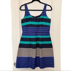 Loft   Striped Textured Dress